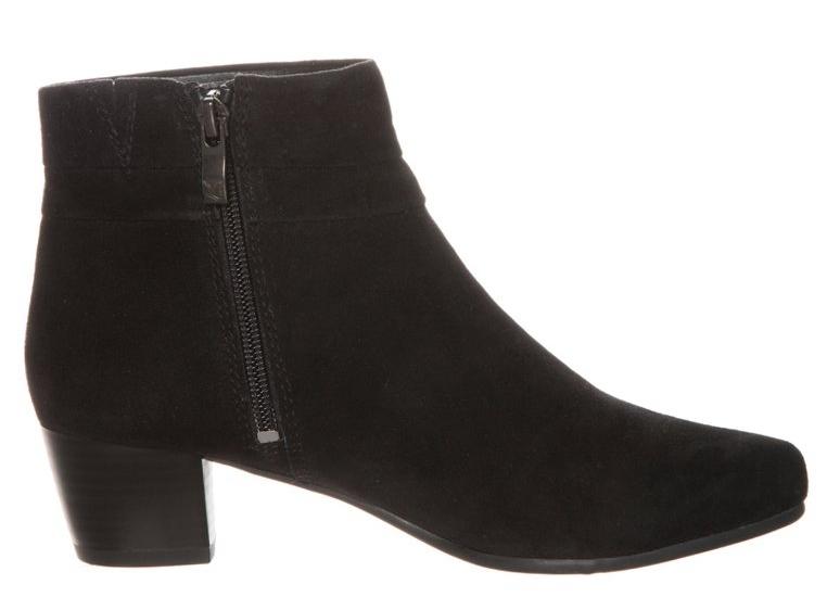 ankle boots noirs à talon caprice kiki