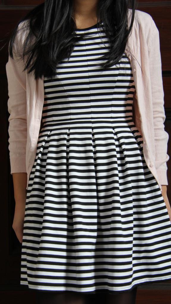 57ba0c51ab La robe aux rayures noires en plein hiver – Chère jolie marinière,