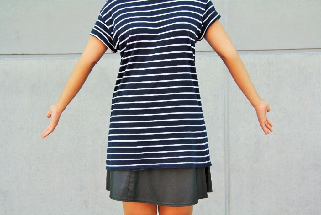 robe noire rayée h&m